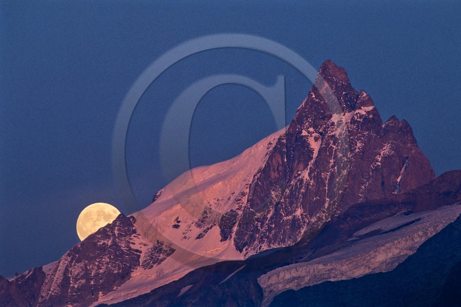 Lever de lune et coucher de soleil sur la meije phototh que photos reportages bertrand - Heure de lever et coucher de la lune ...